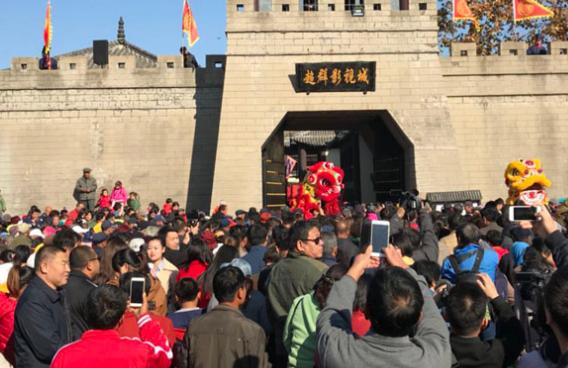 青岛西海岸灵珠山庙会开幕 带领游客重返宋朝