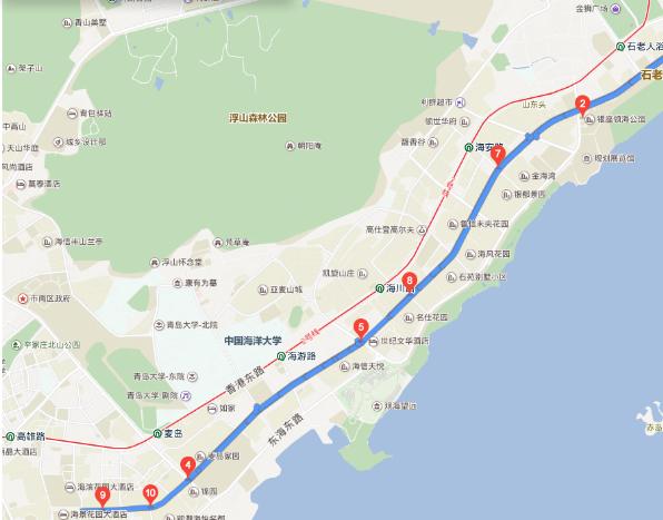 @青岛市民 海口路整治提升施工 10条公交线8日起调流