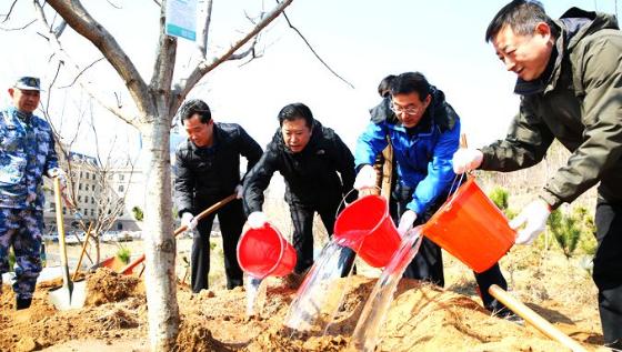 青岛义务植树活动首次采用网络报名 千名市民参加活动