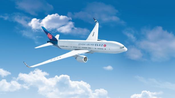 好消息:青岛航空运营的首条国际航线已开通!