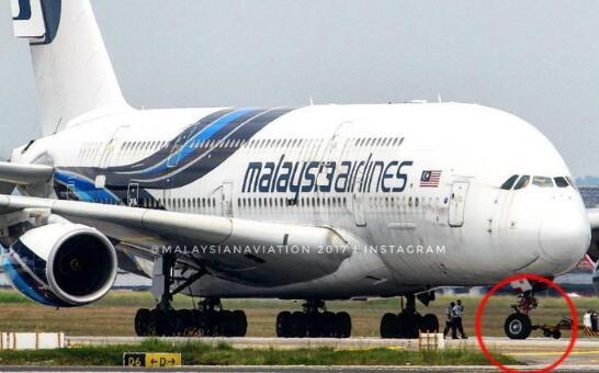尴尬了!马航MH3航班降落时被发现丢失一轮胎