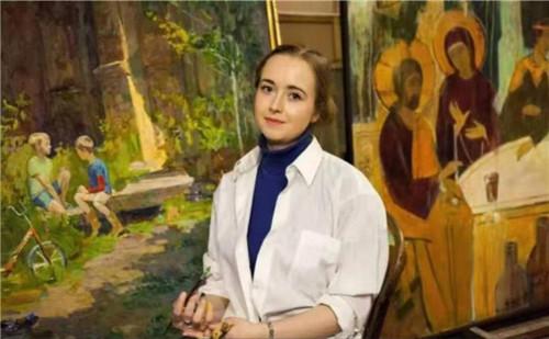 时代新青年教育集团受邀参观叶卡捷琳娜博士画展开幕仪式