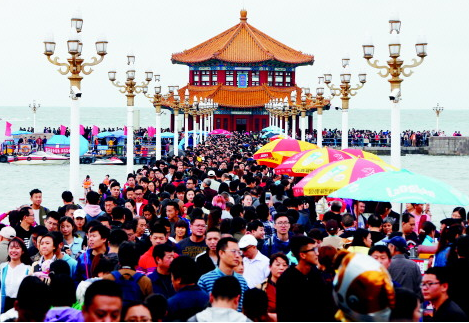 青岛国庆黄金周降温 散客成旅游人群的主力