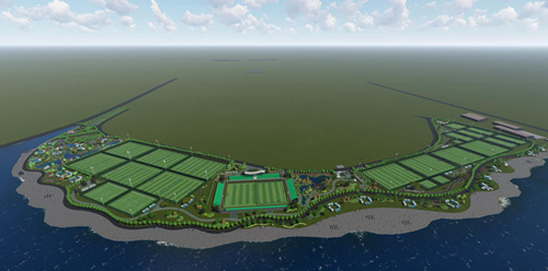 打造青少年足球名城  城阳区白沙湾足球公园开建