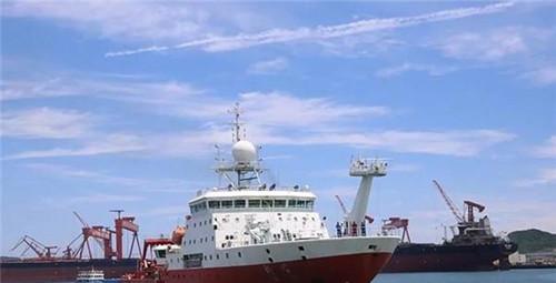 """""""科学""""号科考船完成西太平洋科考任务顺利返回青岛"""