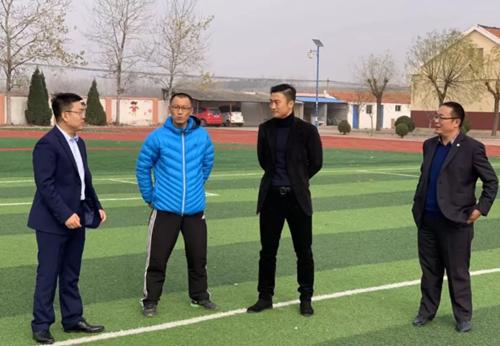 青岛市黄岛区青年企业家商会党支部到新区藏南小学考察走访