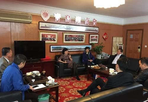 汕头市政协副主席蔡佩侬一行到访青岛潮商会