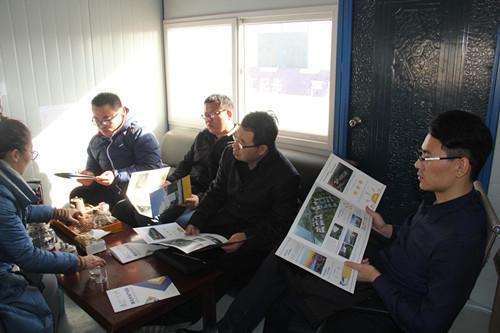 青岛市家具协会一行带领会员单位走访天谷产业园