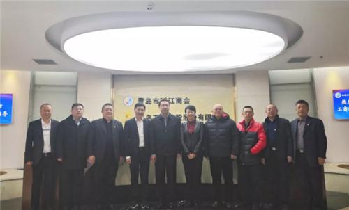 烟台市工商联副主席王春雷一行到青岛市浙江商会考察调研