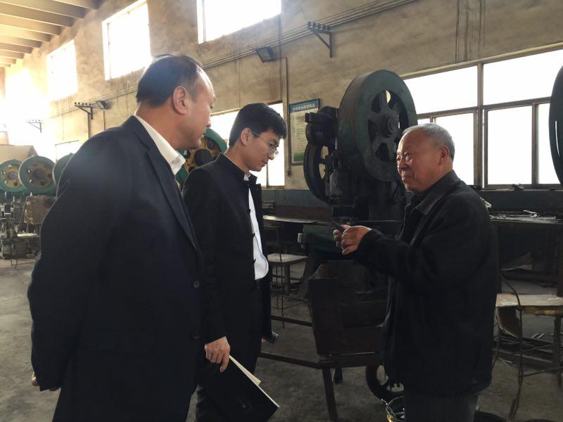 青岛市青州商会会长田文亮一行莅临青州市剪刀厂指导工作