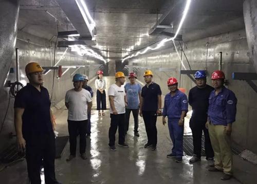 山东省城市建设管理协会一行到青岛新机场调研检查综合管廊项目