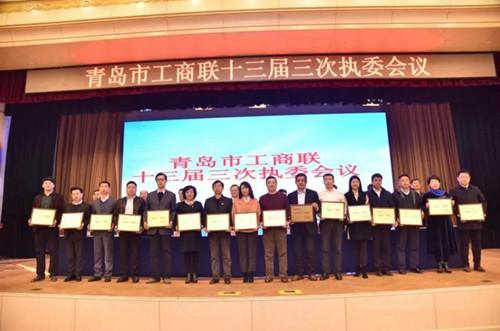 """为青岛市电子信息商会荣获2018年度青岛市""""四好""""商会喝彩"""