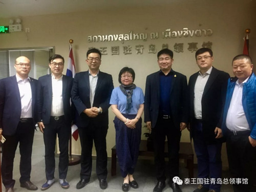 泰王国驻青岛总领事接待泰国山东总商会会长一行