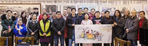 青岛市漫画家协会举办2019迎新春红画馆笔会